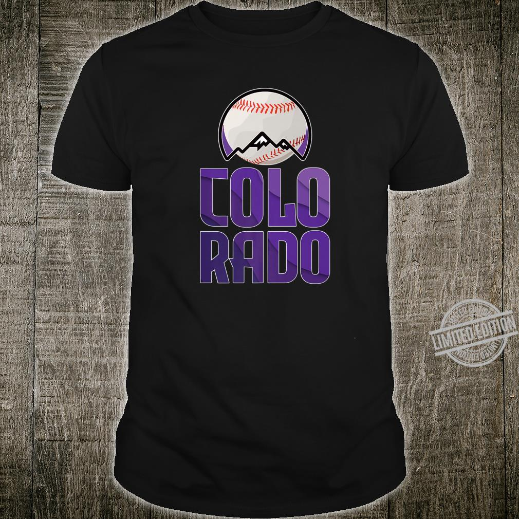 Distressed Colorado Baseball Shirt