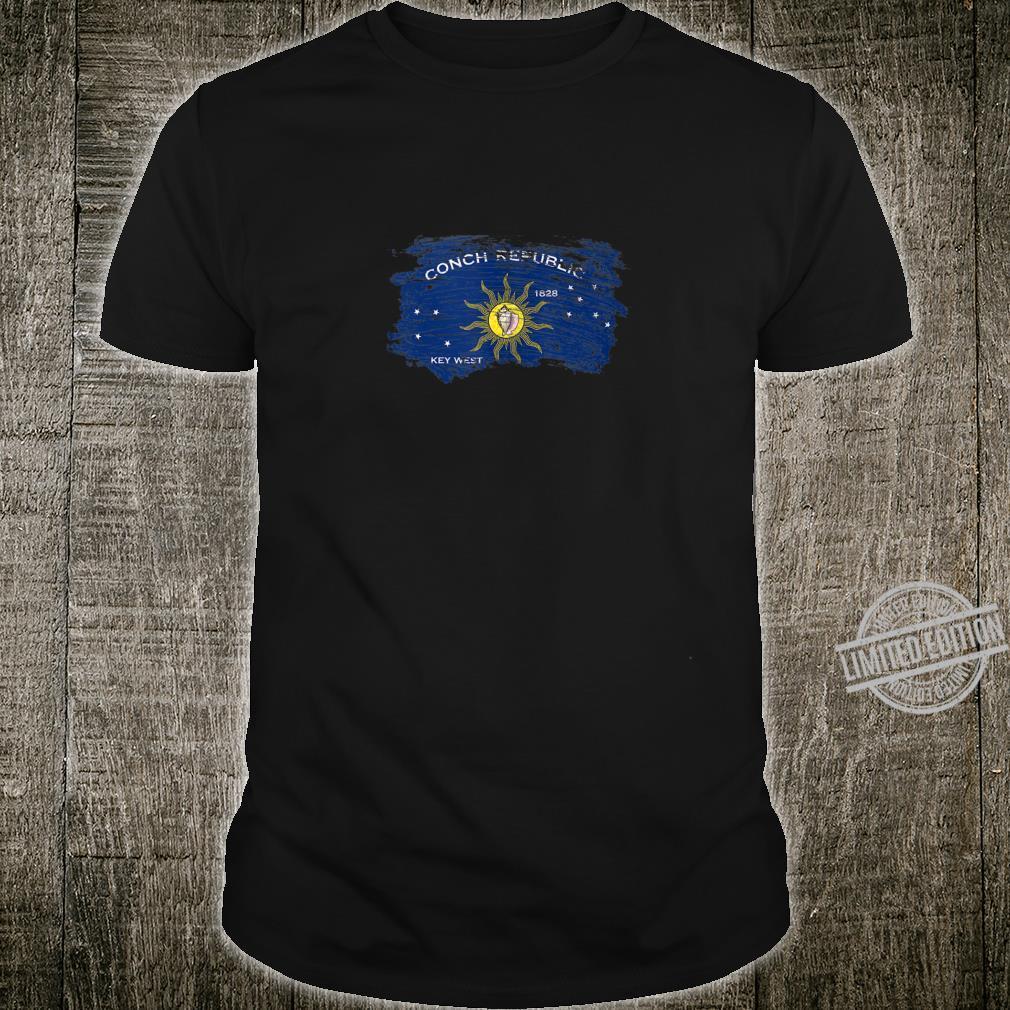 Distressed Retro Conch Republic Flag Shirt