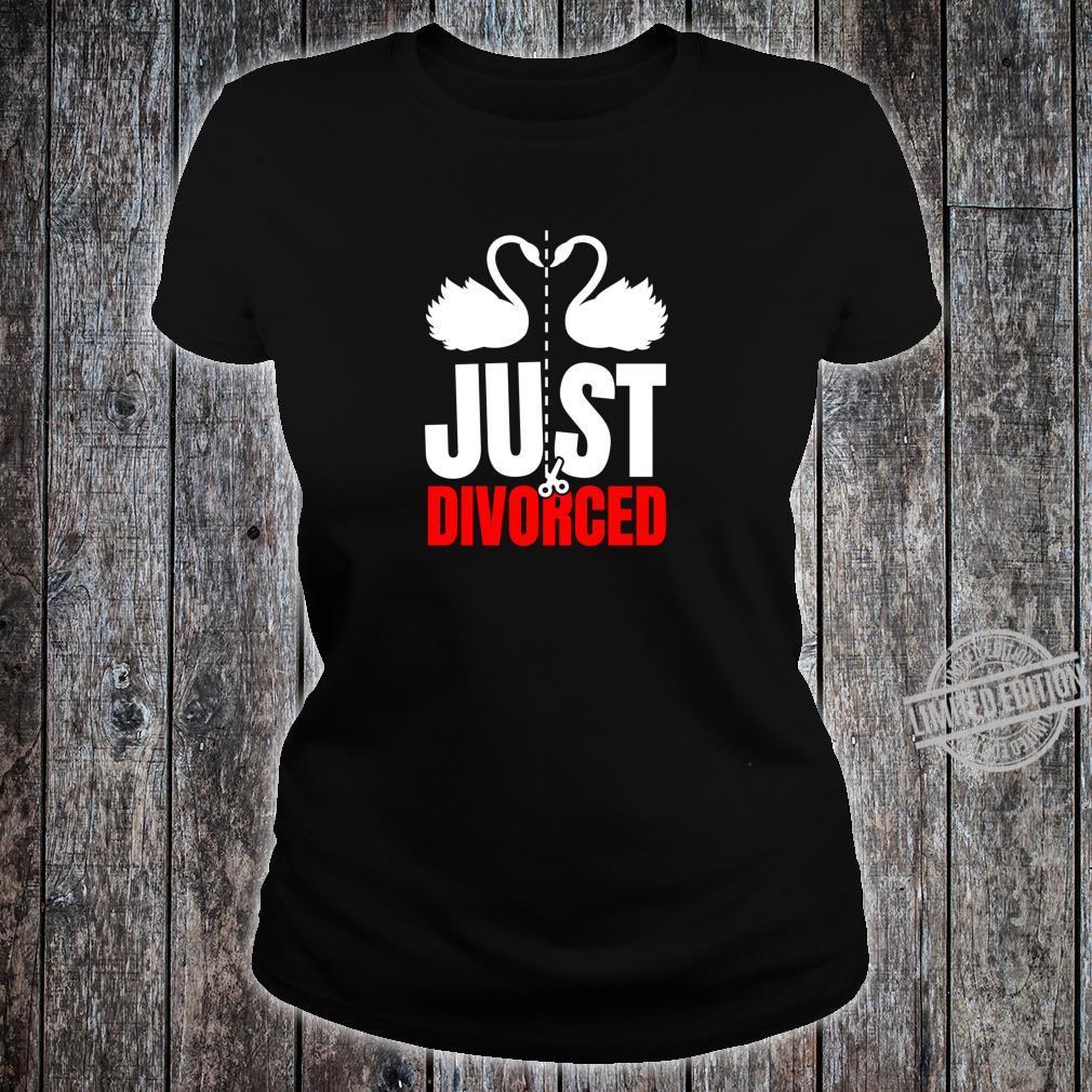 Divorce Break Up Outfit Just Divorced Cute Swans Shirt ladies tee