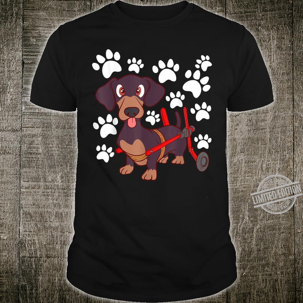 Dog Breed Dachshund Footprint Pet Top Shirt