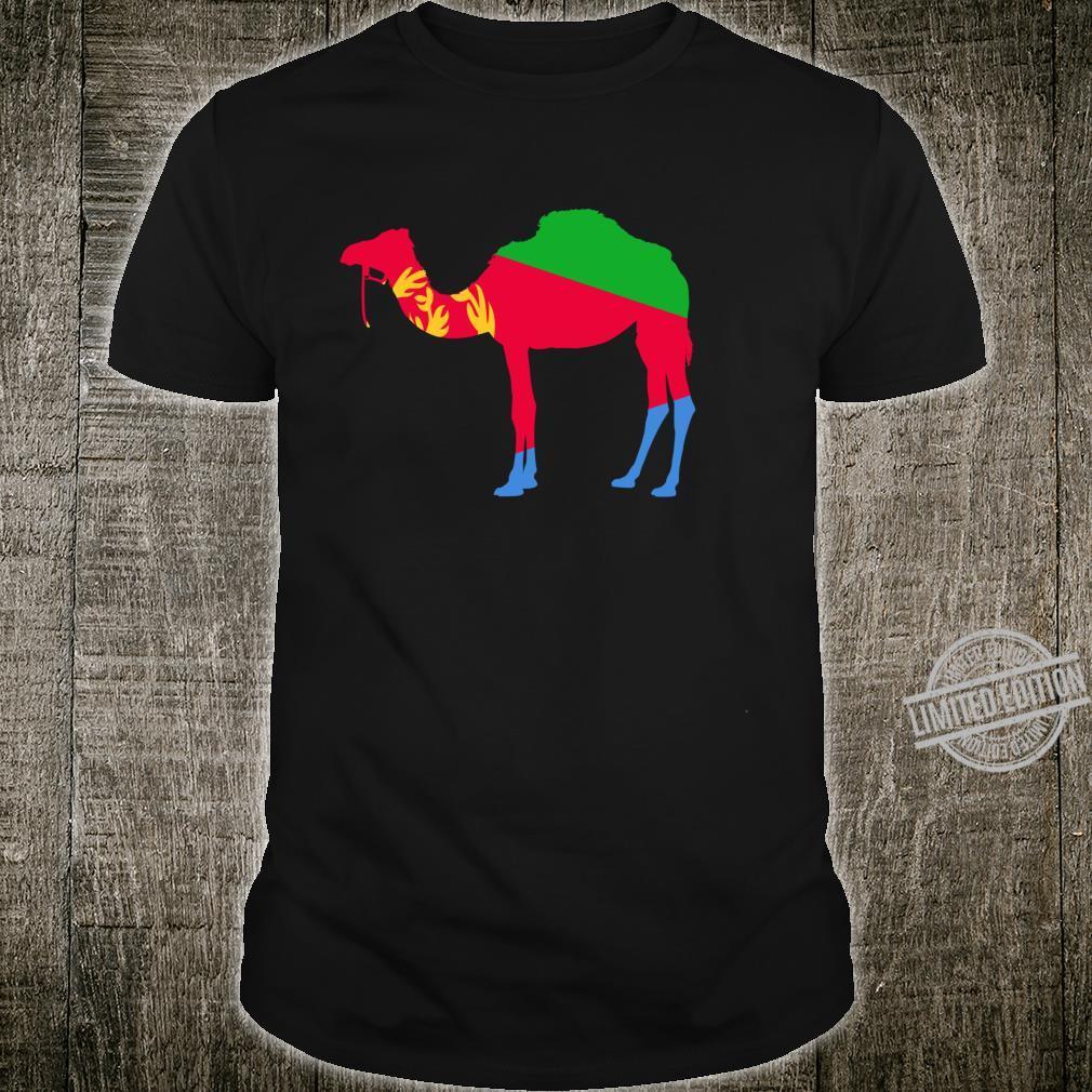 Eritrea Camel Flag Tigrinya Eritrea Map Symbol Shirt