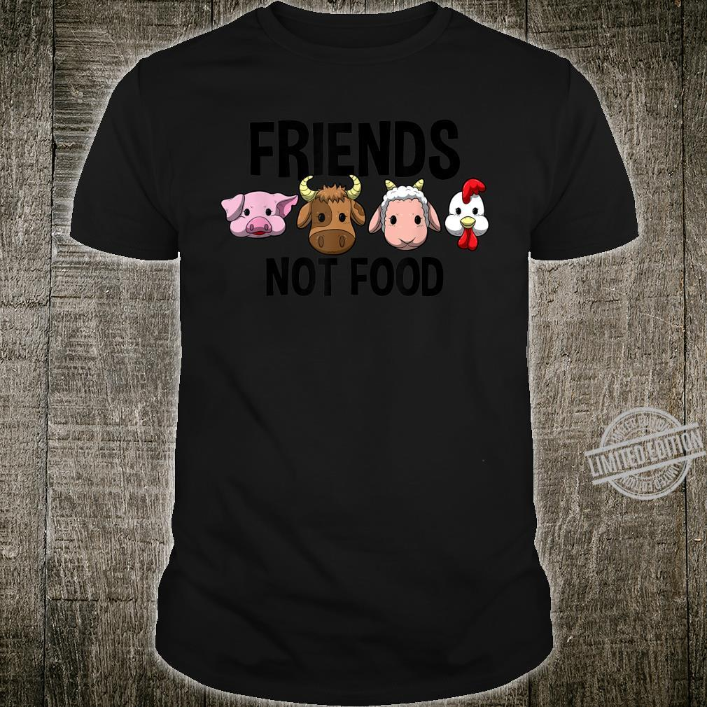 Friends not Food Vegan Vegetarian Veggie Shirt