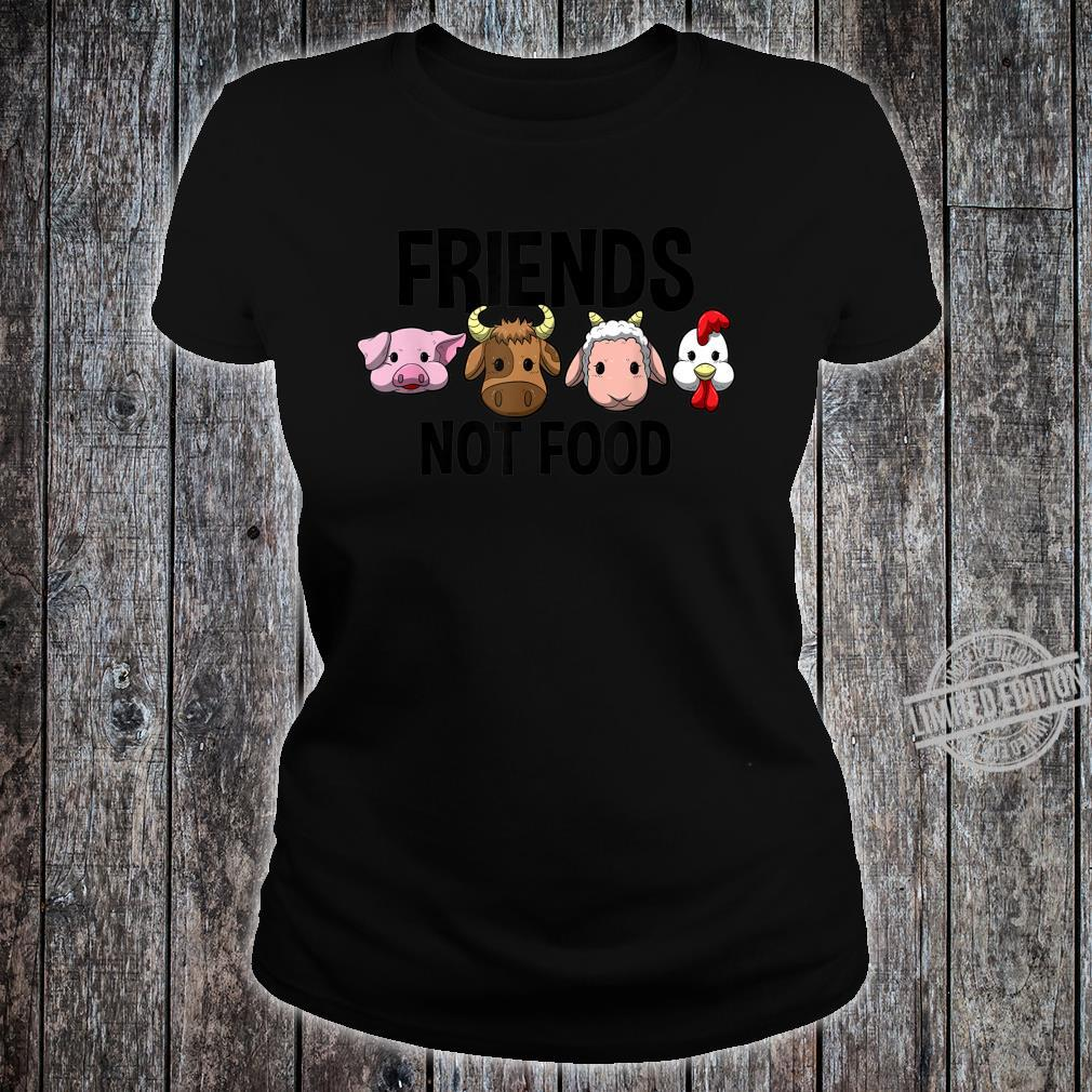 Friends not Food Vegan Vegetarian Veggie Shirt ladies tee