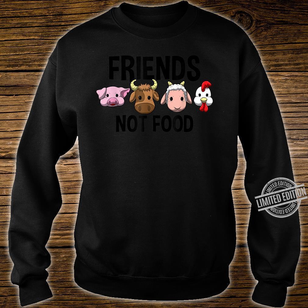Friends not Food Vegan Vegetarian Veggie Shirt sweater