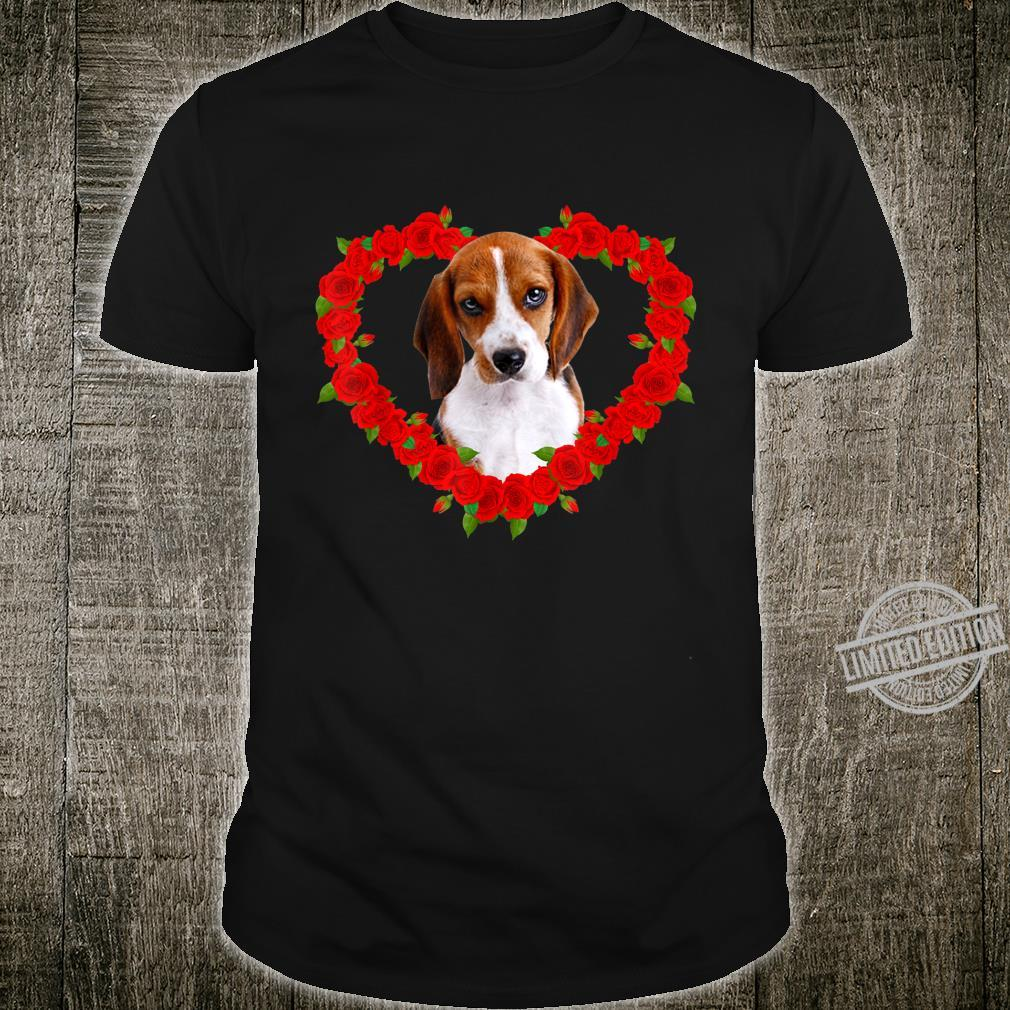 Funny Beagle Heart Valentine Pet Owner Shirt