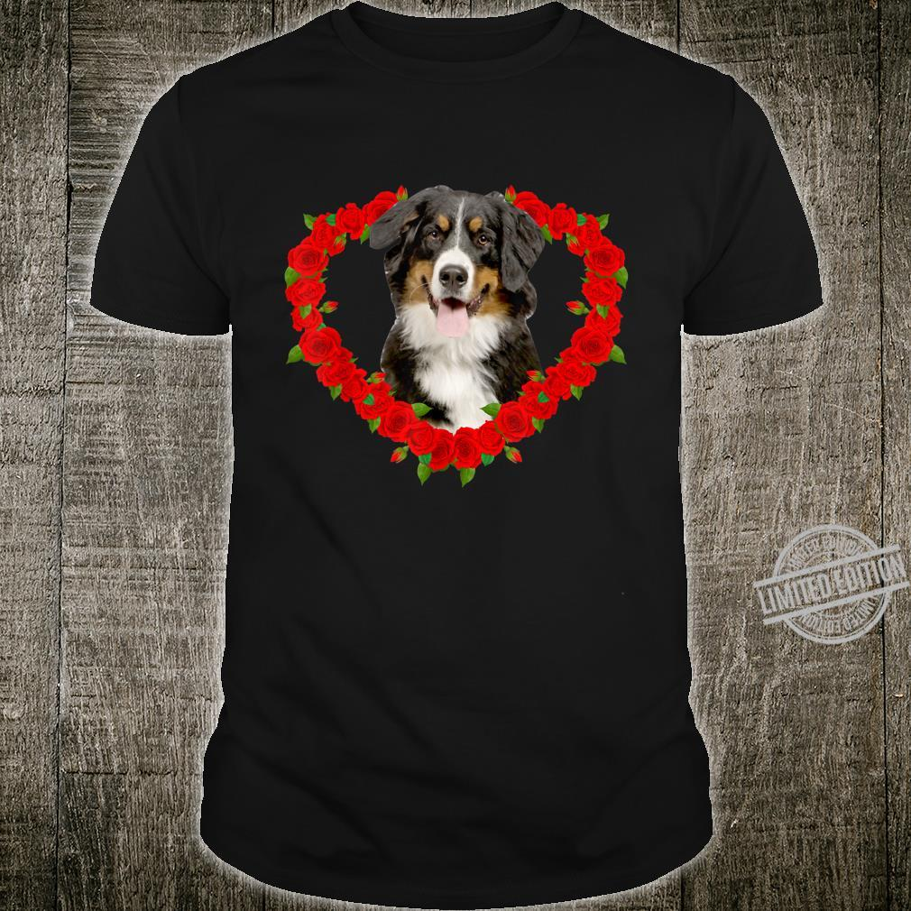 Funny Bernese Mountain Heart Valentine Pet Owner Shirt