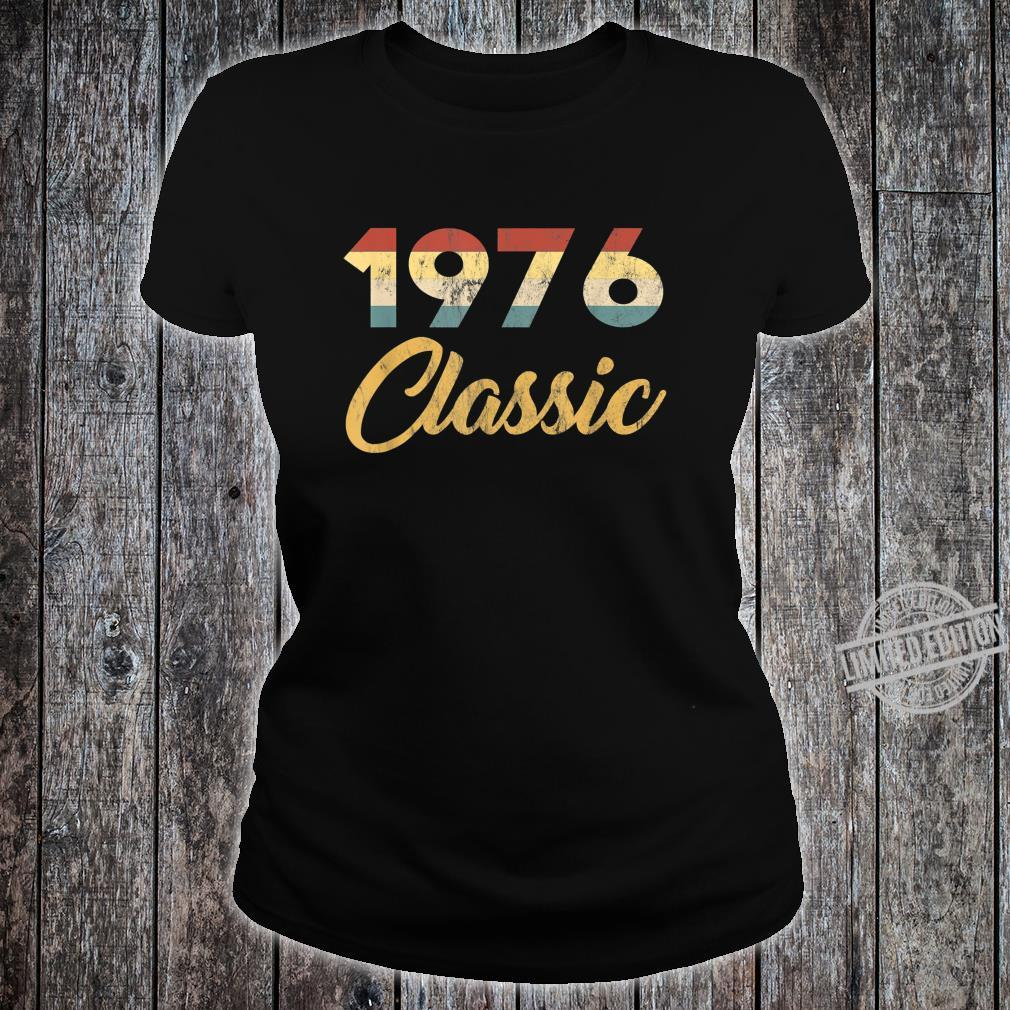 Geboren 1976 Klassische 70er Feier Retro 44. Geburtstag Shirt ladies tee