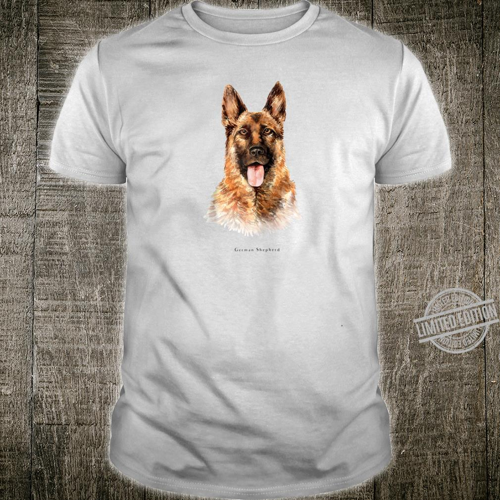 German Shepherd Police Fluffy Dog Shirt