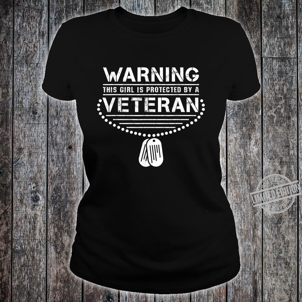 Girl protected by a Veteran PTSD Awareness Ribbon Shirt ladies tee