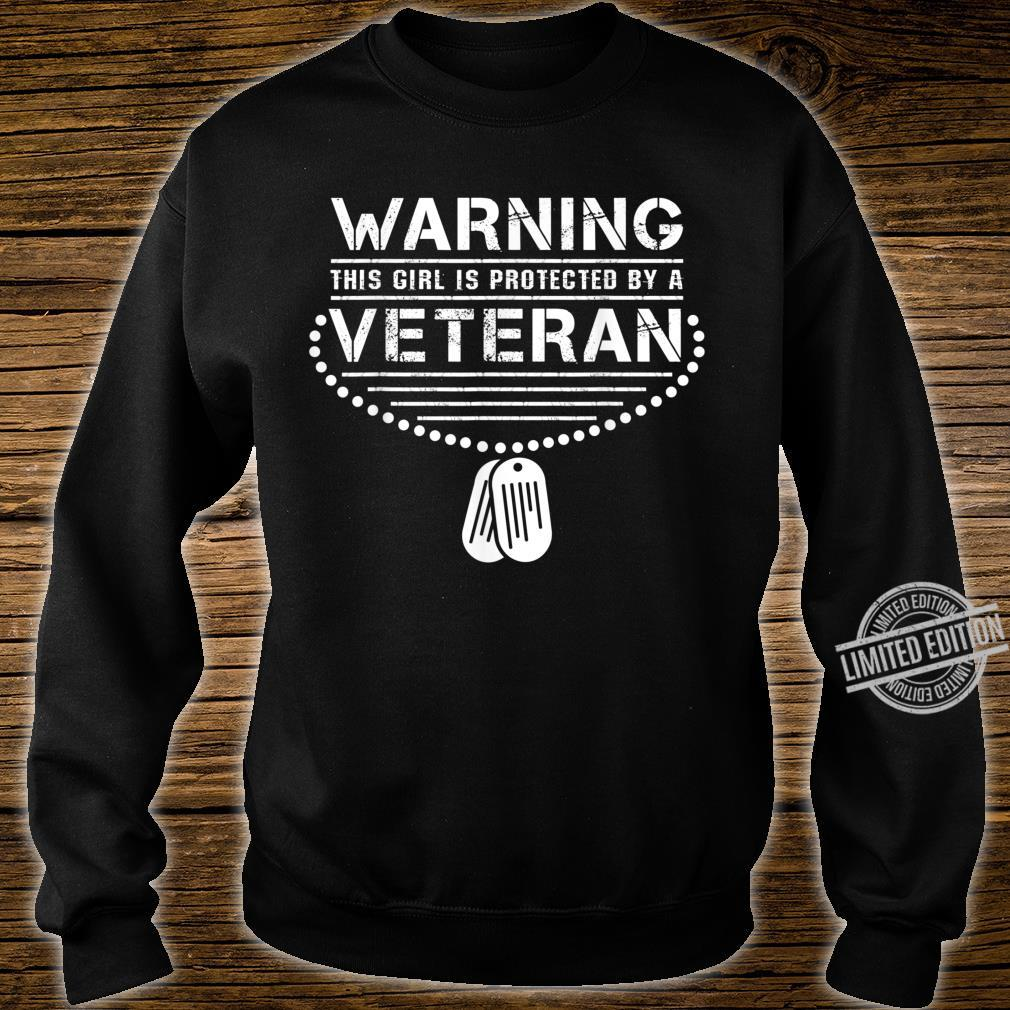 Girl protected by a Veteran PTSD Awareness Ribbon Shirt sweater