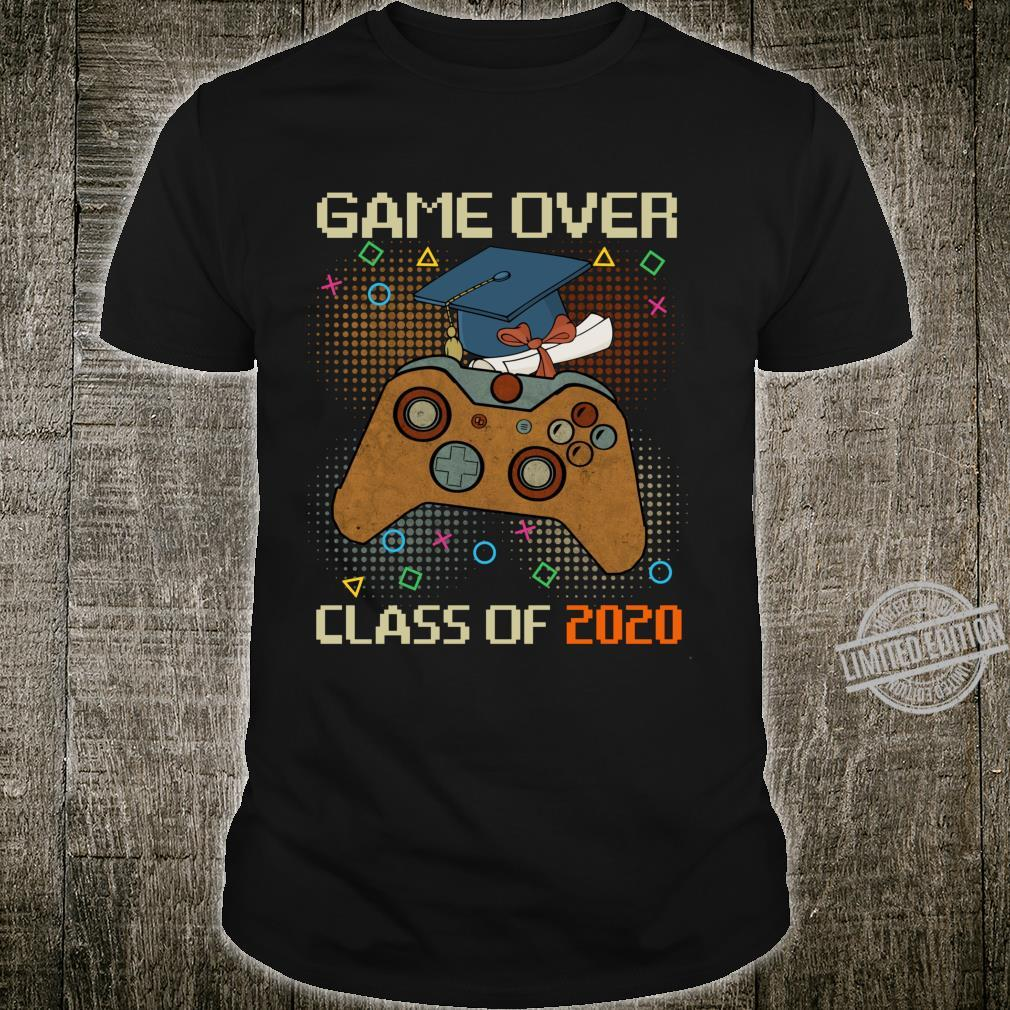 Graduate GamerVintage Game Over Class of 2020 Shirt