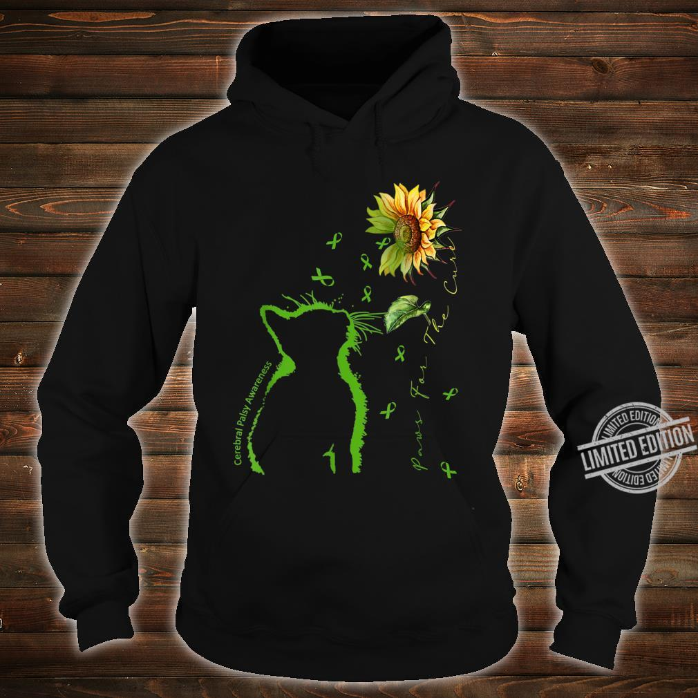 Green Cat Paws For The Cure Cerebral Palsy Awareness Shirt hoodie