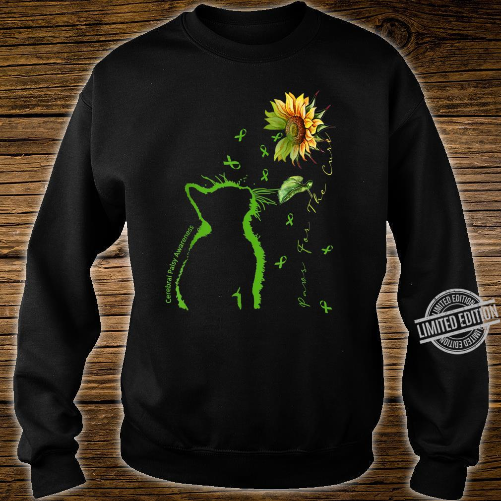 Green Cat Paws For The Cure Cerebral Palsy Awareness Shirt sweater