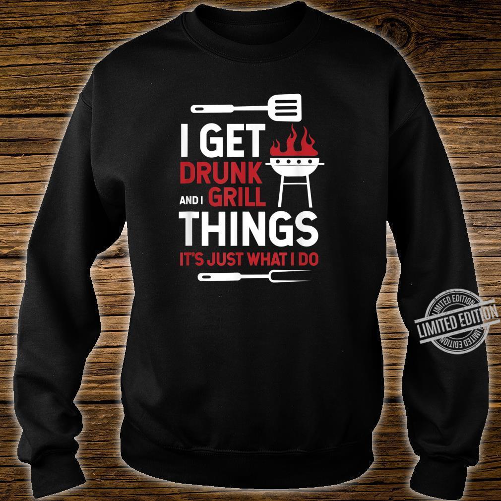 Grill Grillmeister Grillen BBQ Geschenk Papa Shirt sweater