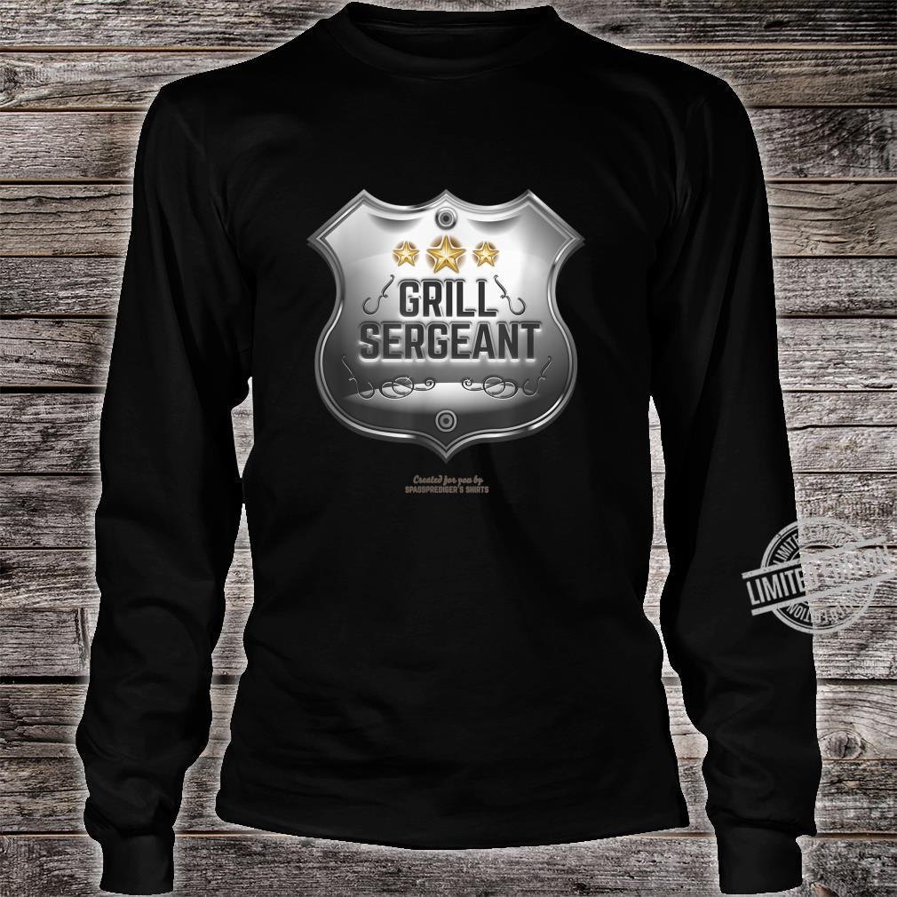 Grill Sergeant Design for BBQ Fans Shirt long sleeved