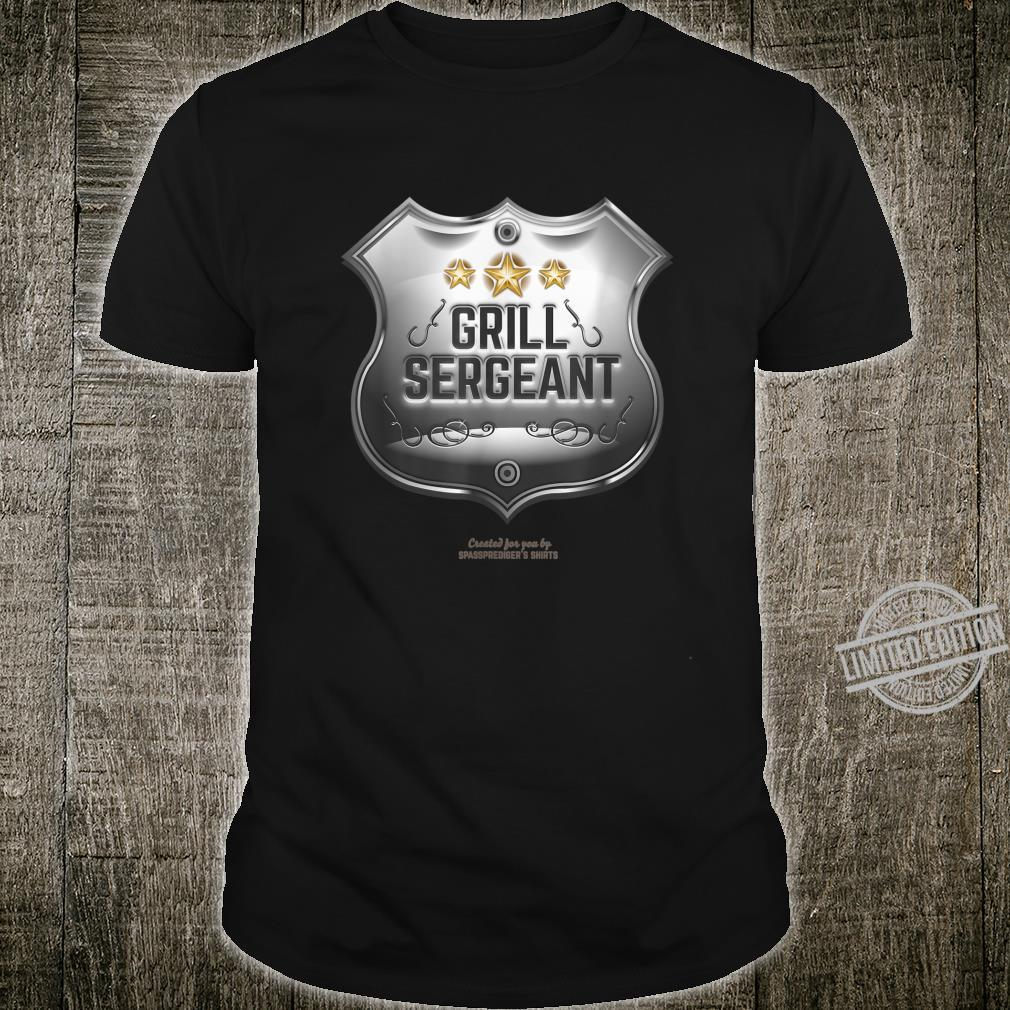 Grill Sergeant Design for BBQ Fans Shirt