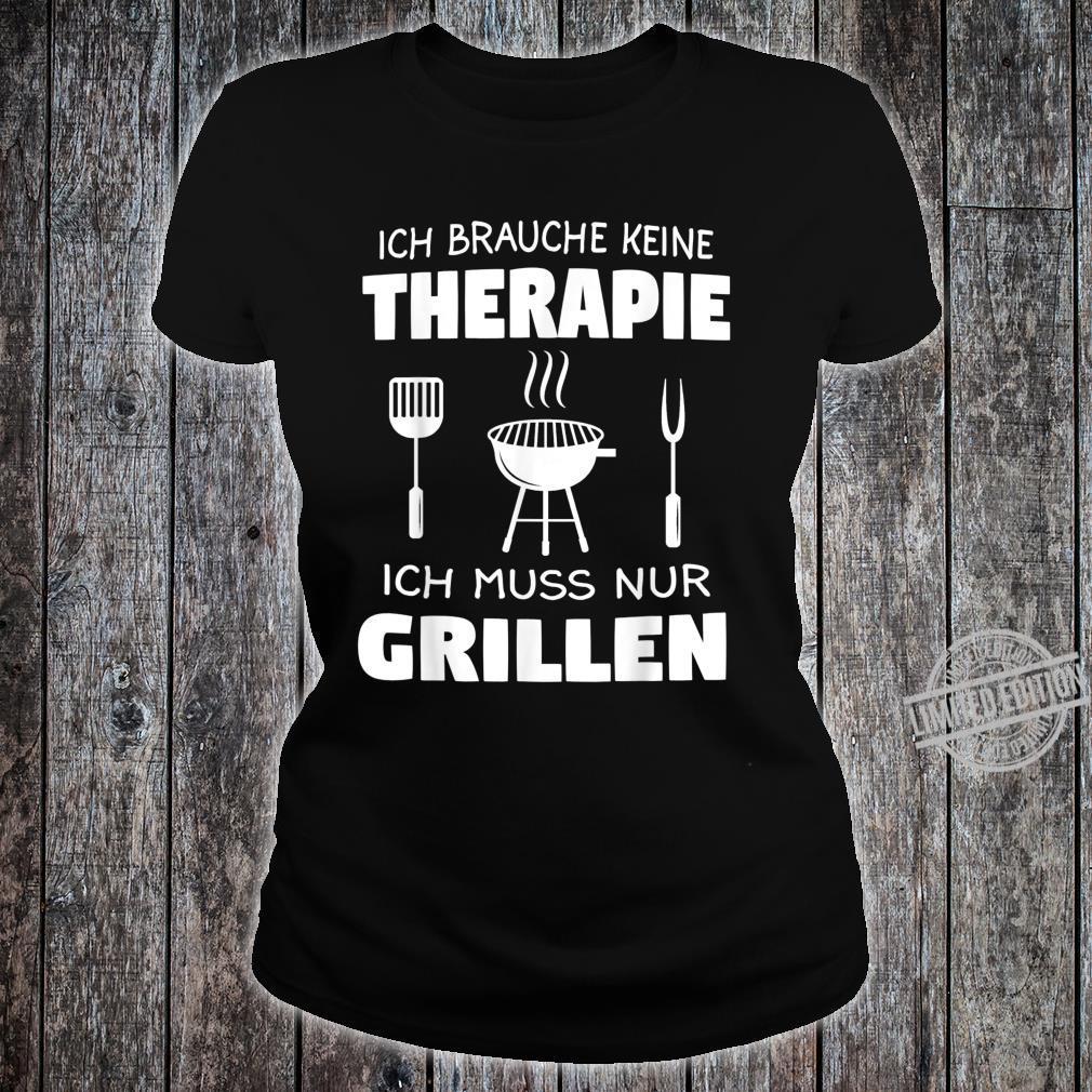 Grillen Griller BBQ Fleisch Geschenk Shirt ladies tee