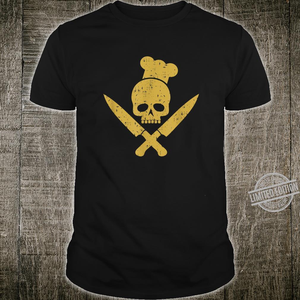 Grillen Grillsaison Totenkopf BBQ Designs für Grillfans Shirt