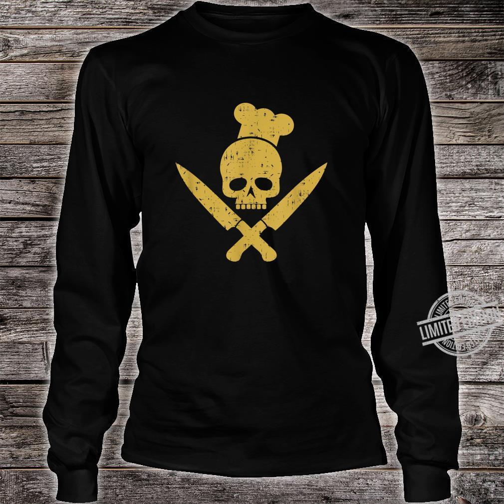 Grillen Grillsaison Totenkopf BBQ Designs für Grillfans Shirt long sleeved