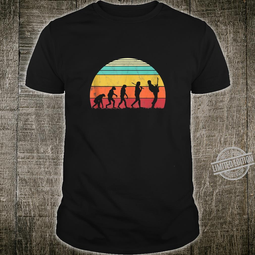 Guitar Retro Vintage Guitarist Evolution Musician Shirt