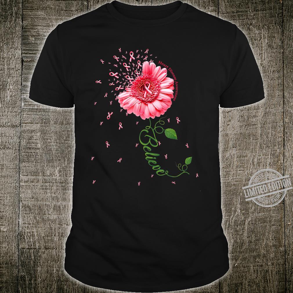 HEART DISEASE AWARENESS Daisy Ribbon Believe Shirt