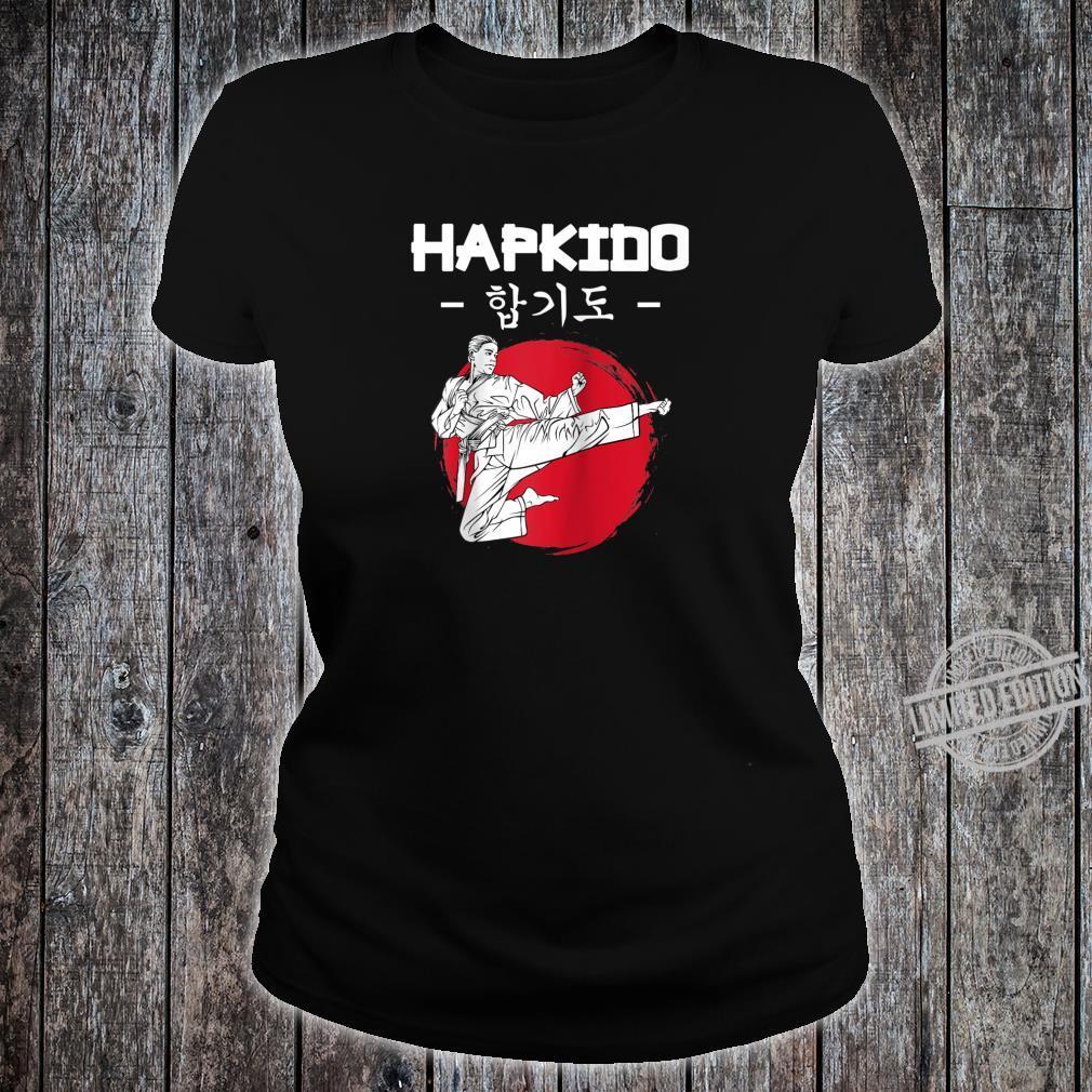 Hapkido Korean Martial Arts Kicks Punches Throwing Idea Shirt ladies tee
