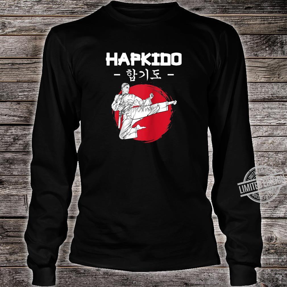 Hapkido Korean Martial Arts Kicks Punches Throwing Idea Shirt long sleeved