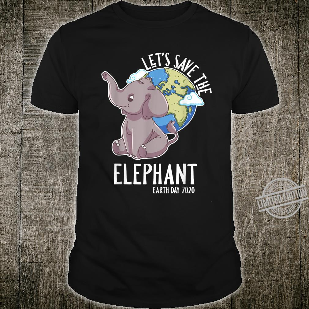 Happy Baby Hippie African Earth Day Elephant Animal Shirt