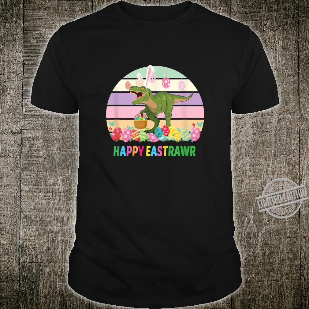 Happy Eastrawr Dinosaur T Rex Easter Eggs Sunset Shirt