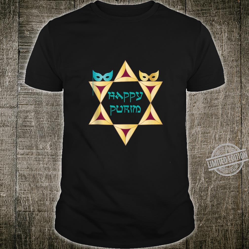 Happy Purim Shirt Star Of David Jewish Costume Shirt