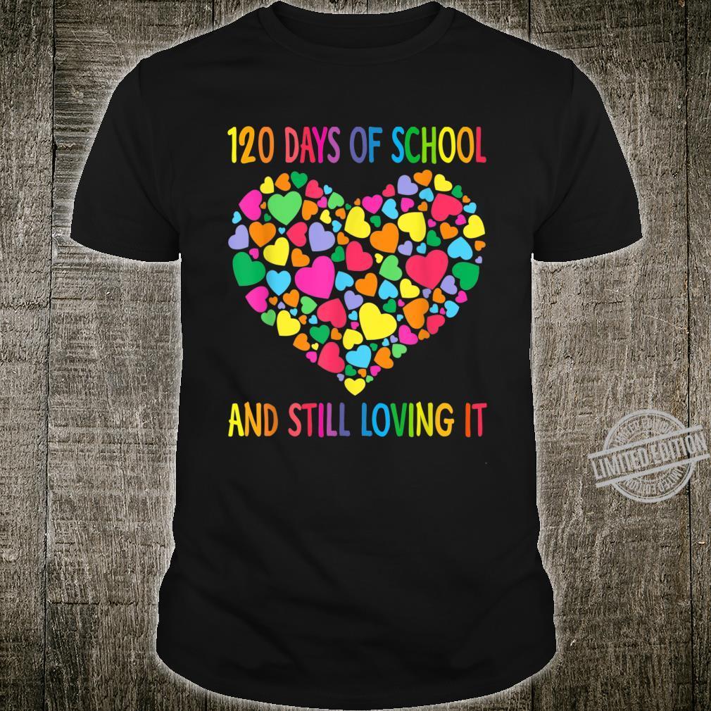 Heart Love 120 Days Of School Shirt Teacher Boy Girl Shirt
