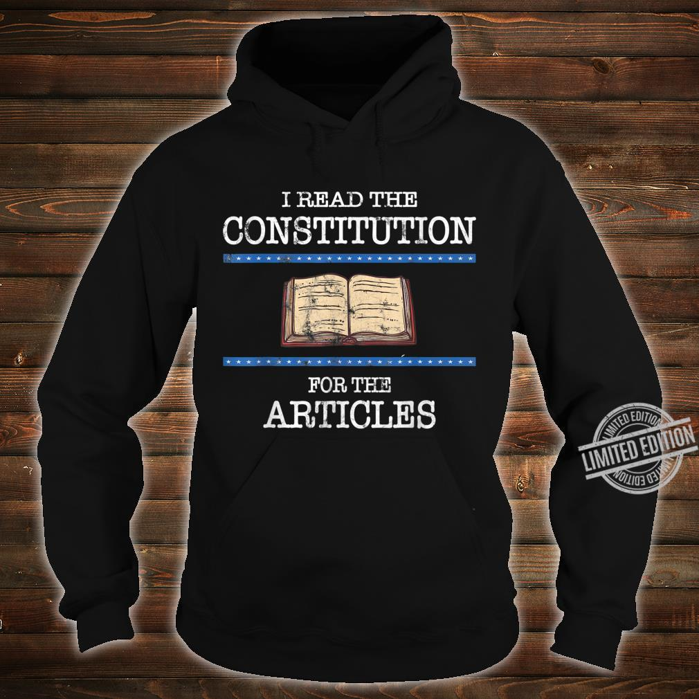 History Teachers Read the Constitution Distressed Shirt hoodie