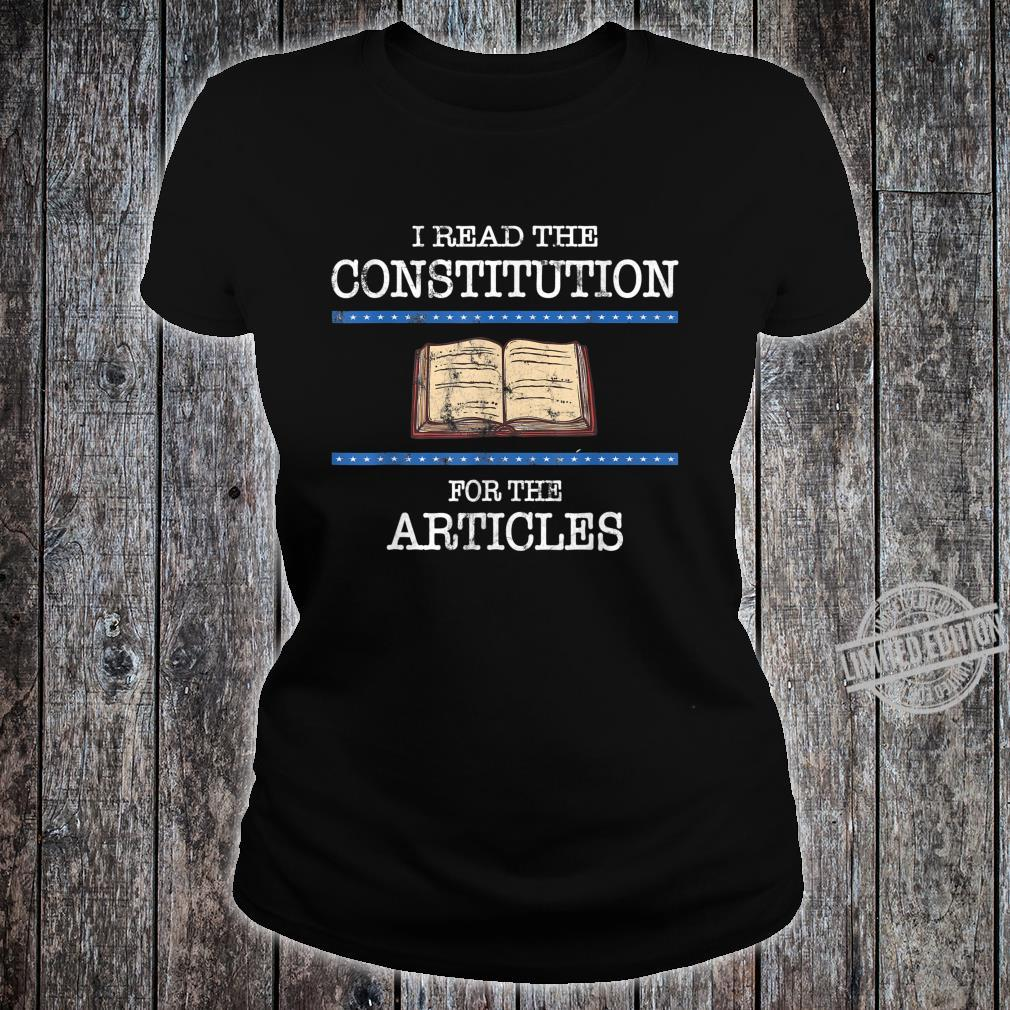 History Teachers Read the Constitution Distressed Shirt ladies tee