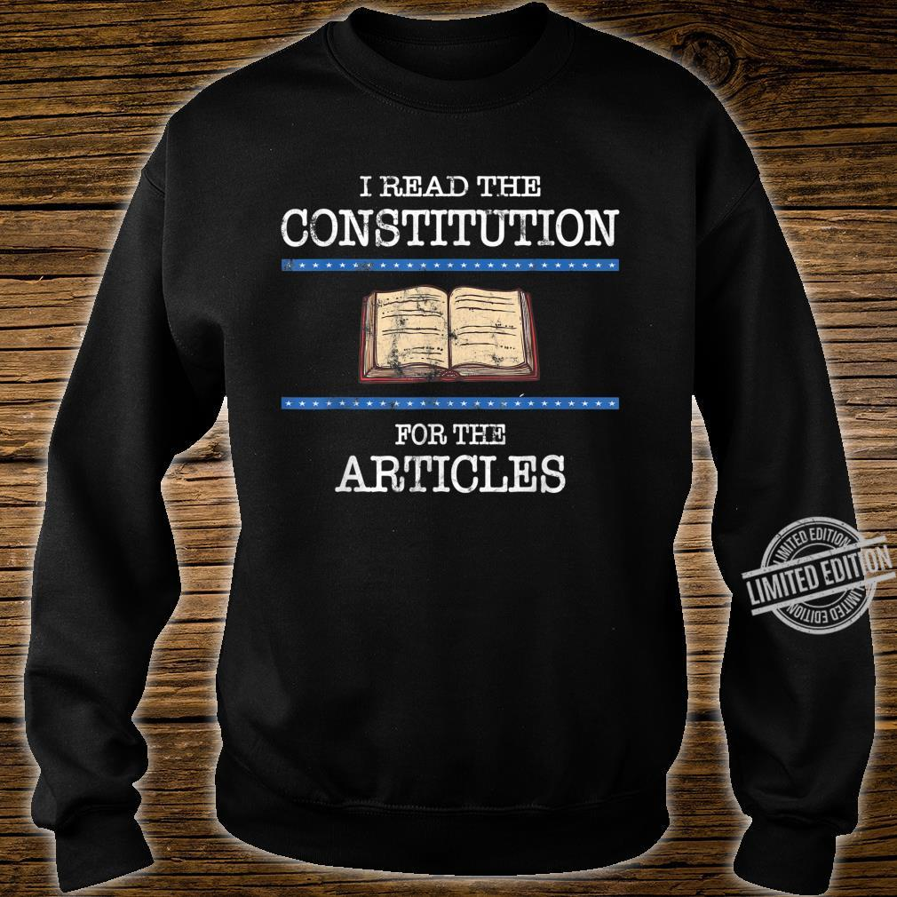 History Teachers Read the Constitution Distressed Shirt sweater