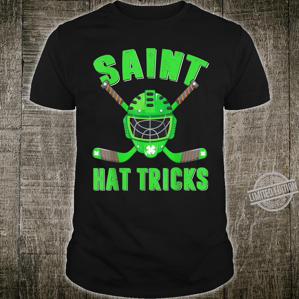 Hockey Saint Hat Tricks Sport Shamrock St Patricks Day Shirt