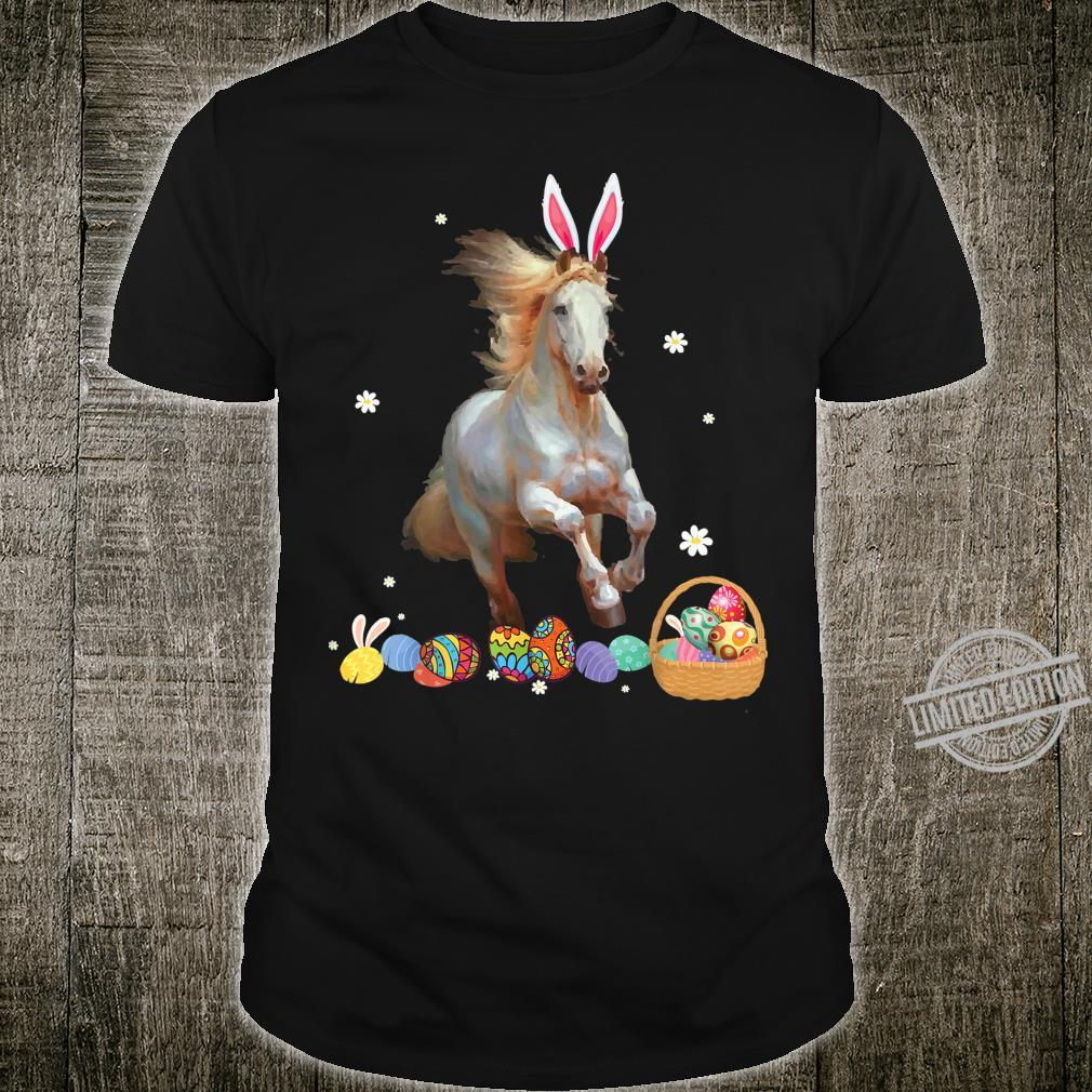 Horse And Bunny Rabbit Easter Eggs Happy Day Shirt