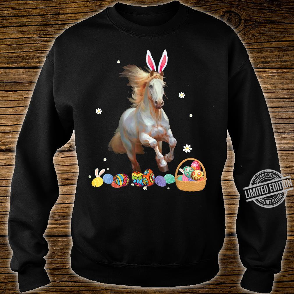 Horse And Bunny Rabbit Easter Eggs Happy Day Shirt sweater
