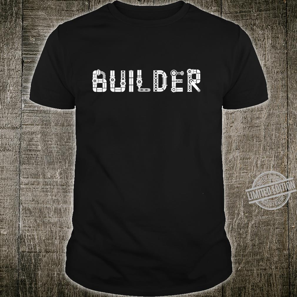 I Love Robots Droid Builder Robotics Shirt