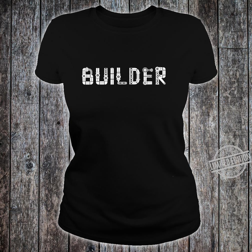 I Love Robots Droid Builder Robotics Shirt ladies tee