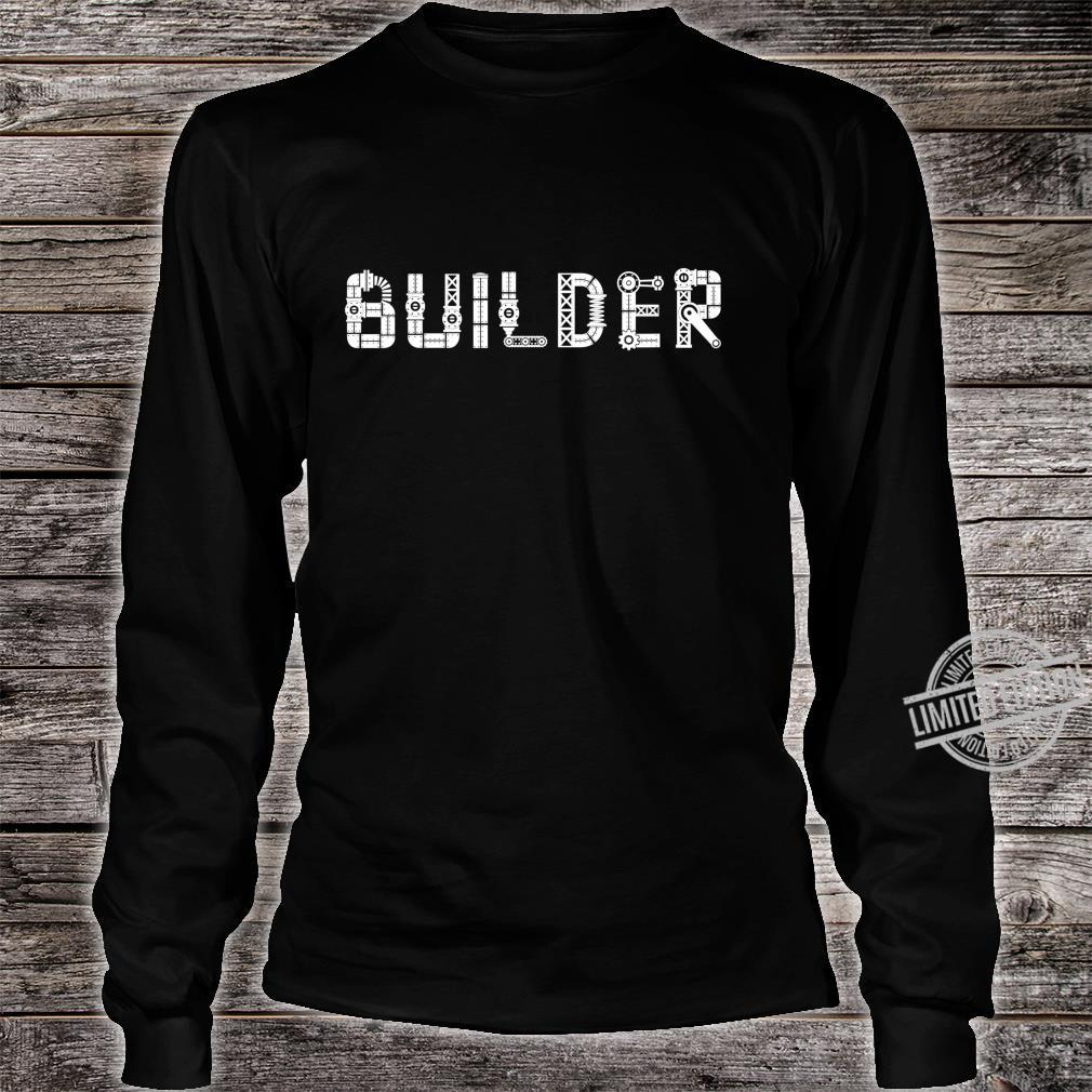 I Love Robots Droid Builder Robotics Shirt long sleeved