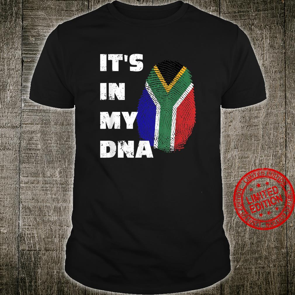 IT'S IN MY DNA SOUTH AFRICAN PRIDE FINGERPRINT FLAG Shirt