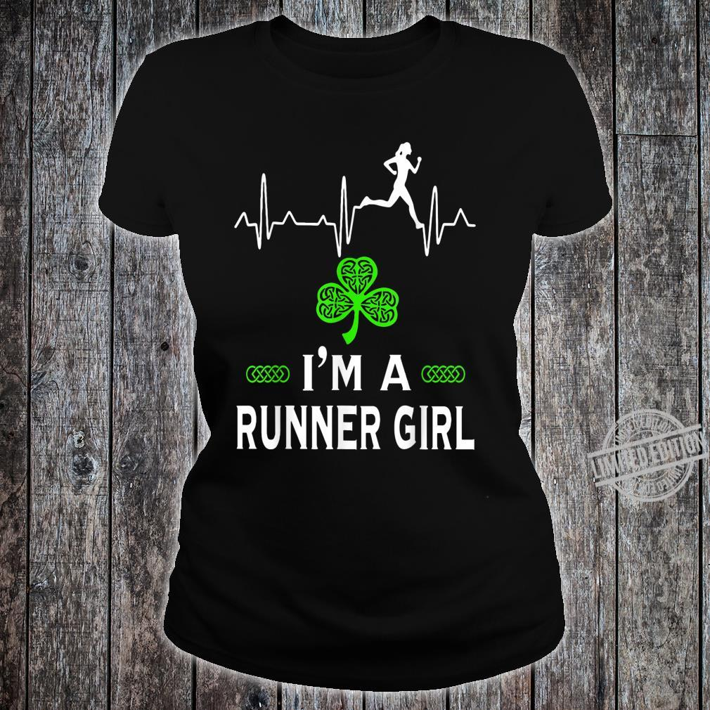 I'm a Runner girl for St Patrick's Day Shirt ladies tee