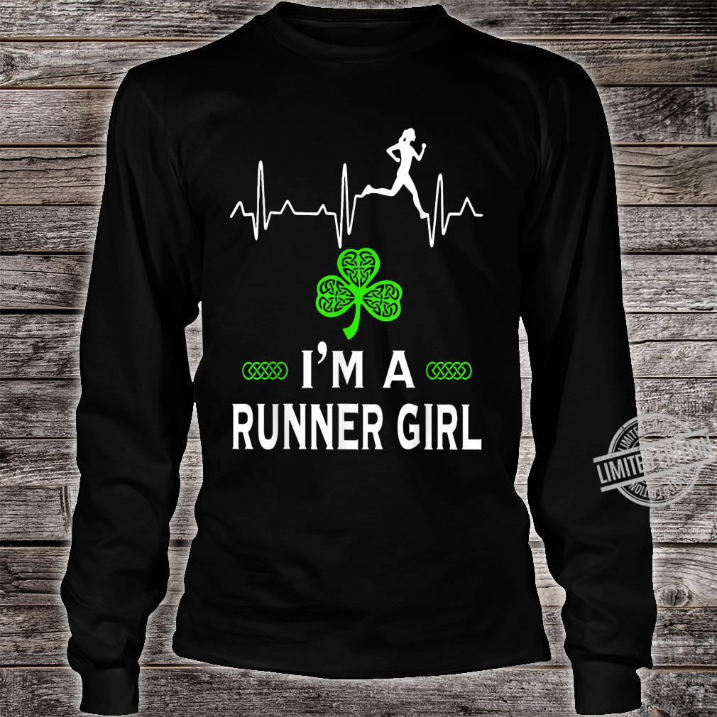 I'm a Runner girl for St Patrick's Day Shirt long sleeved