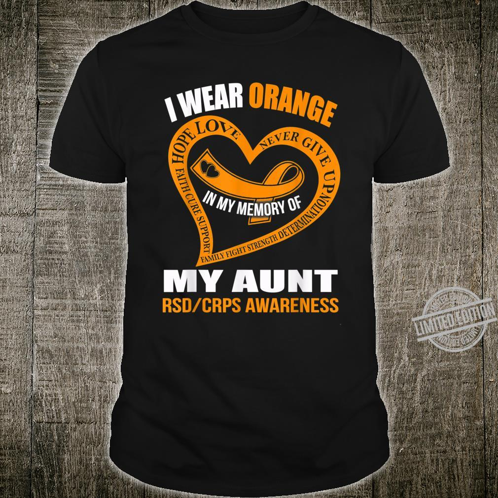In my memory of my aunt RSDCRPS AWARENESS Shirt