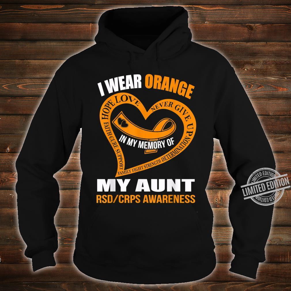 In my memory of my aunt RSDCRPS AWARENESS Shirt hoodie