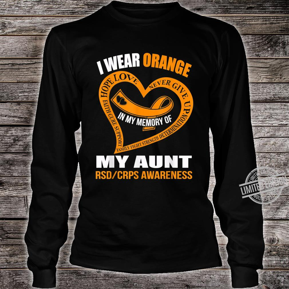 In my memory of my aunt RSDCRPS AWARENESS Shirt long sleeved