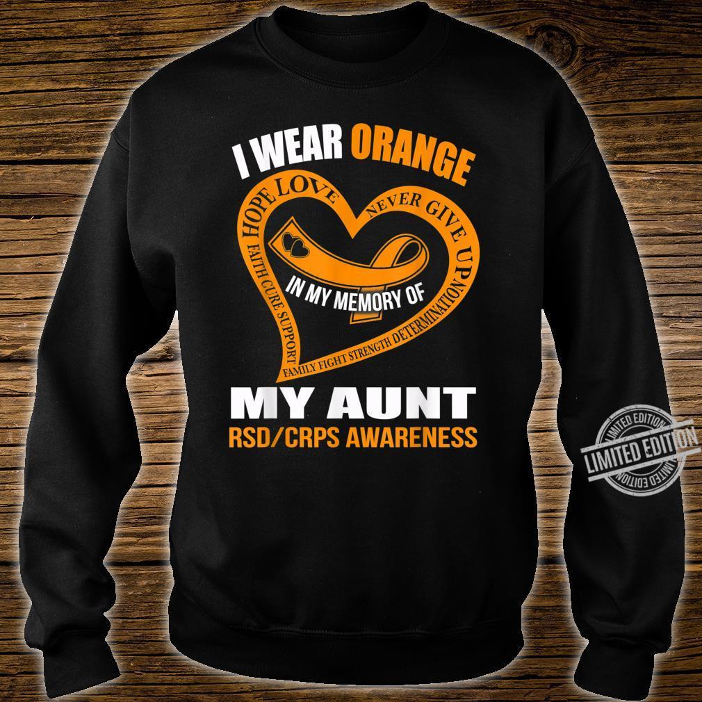 In my memory of my aunt RSDCRPS AWARENESS Shirt sweater