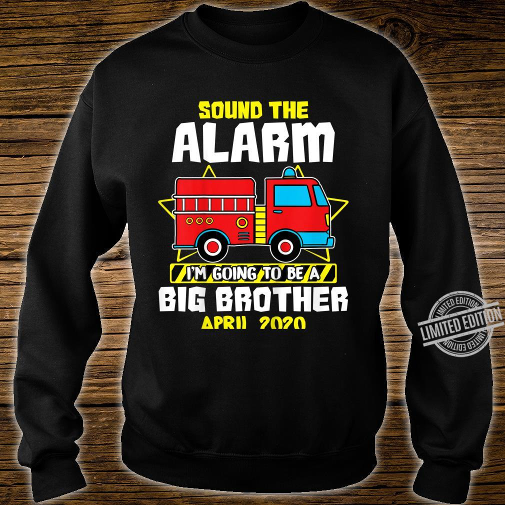 Kids Sound The Alarm Going To Be A Big Cute Brother Apr 2020 Shirt sweater