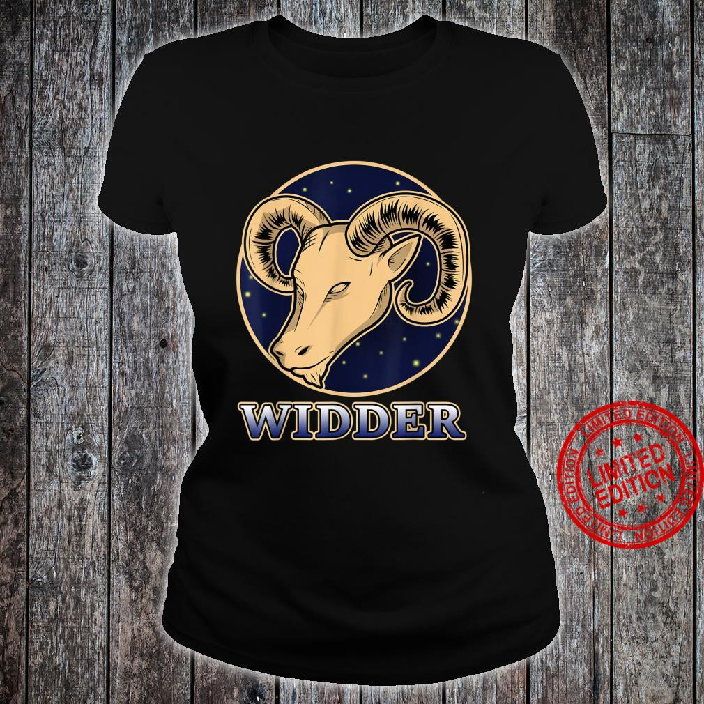 Konstellation Horoskop Aszendent Aries Sternzeichen Widder Shirt ladies tee
