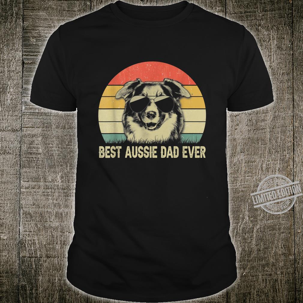 Mens Best Australian Shepherd Dad Ever Shirt Fathers Day Shirt